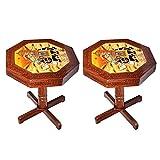 APKAMART Handcrafted Wooden Side Table c...