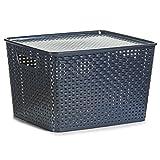 Zeller 13107 Stapelbox mit Deckel, Kunststoff, grau
