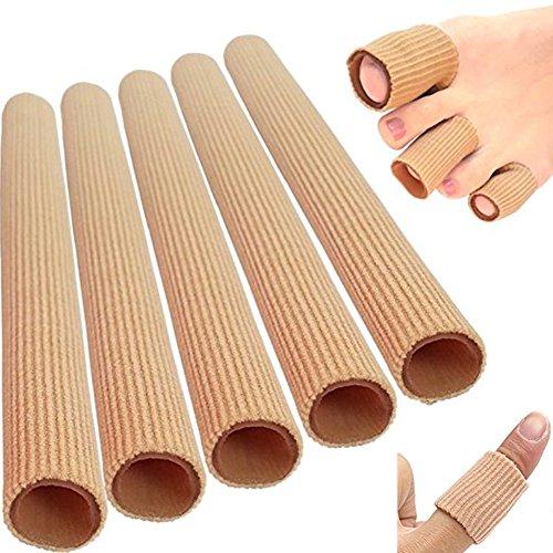 5x15cm Silikon Gel Zehenschutz Fingerbandage Finger Zehen Hallux Valgus Bandage Schlauch Schlauchbandage Druckschutz Schutz