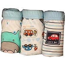 Highdas (Pack de 2) Ropa interior para bebés de algodón de los niños a corto Breves niños bragas color al azar