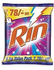 Rin Advanced Detergent Powder - 6 kg (Rupees 78 Off)