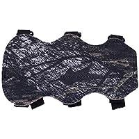 Kurphy 19cm x 10.5m Tiro con Arco Protección para la protección del Brazo del Brazo Forearm Safe 3-Strap Camo PU El Cuero Protege su antebrazo de ser golpeado