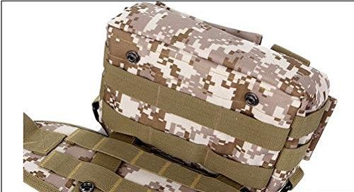 Zll mimetico/outdoor tasche rimovibile combinazione Campagna tattiche per tre tasca borsa a tracolla, three color Giungla