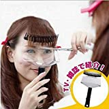 Hair Fringe Trimming Thinning cutting Holder with Clear Protector Shield (Scissors not included) – Japan Hot vendita. immagine