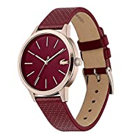 Lacoste Lacoste.12.12 Women's Burgundy Dial Leather Watch - 2001092