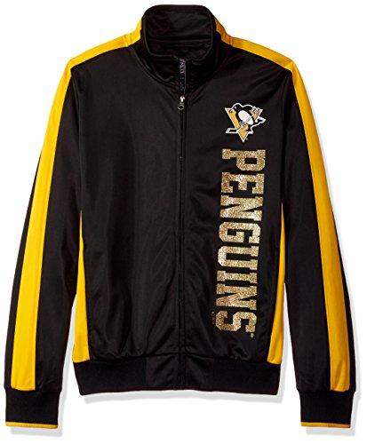 NHL Pittsburgh Penguins Damen lassen Sie Track Jacket, Medium, Schwarz