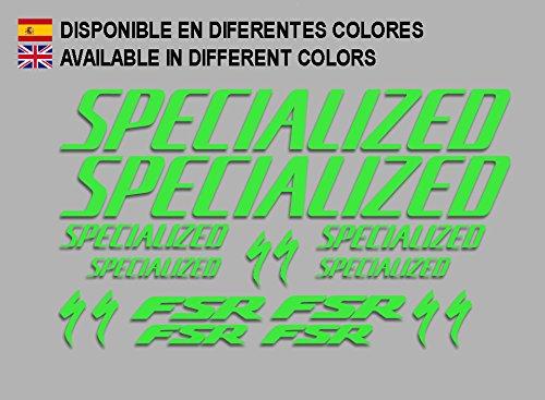 Ecoshirt AX-KXZO-Z14J Aufkleber FSarah Sworks S-Works Frame Set Bikes F156 Stickers Aufkleber Decals Autocollants Adesivi MTB BTT grün