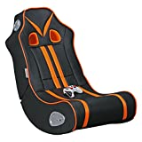 WOHNLING Soundchair NINJA Gaming Chair Schwarz / orange Multimediasessel Musik Rocker mit eingebautem Soundsystem