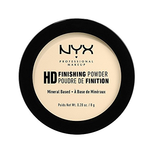 NYX Professional Makeup High Definition Finishing Powder, Gepresstes Puder, Perfektionierte Haut, Mattes Finish, Ölabsorbierend, Vegane Formel, Farbton: Banane -