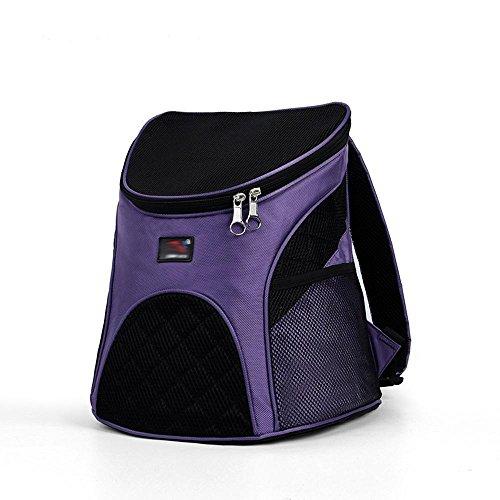 tasche Hund Brust Tasche aus atmungsaktive Katze Mini-Rucksack Teddy mit tragbare Hundetasche, klein, purple (Kostüme Für Weniger Code)