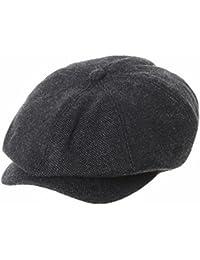 WITHMOONS Sombreros gorras Boinas Bombines Newsboy Hat Wool Felt Simple Gatsby Ivy Cap SL3525