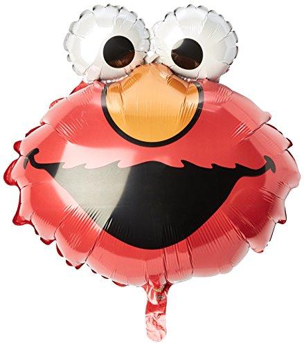 Anagram International 0250001 Partyballon Elmo-Kopf, 50,8 cm, mehrfarbig