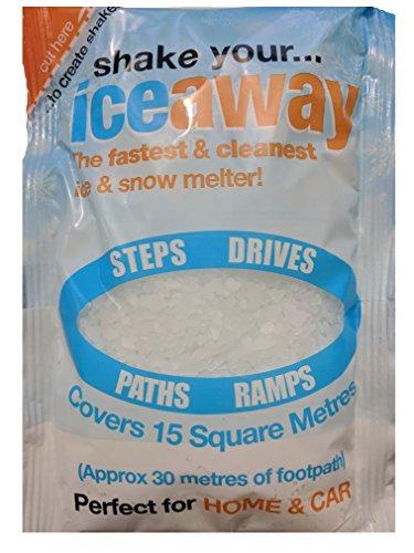 Hielo Away Shaker paquete–Esparcidor de sal 225g portátil) paquete para limpieza hielo y nieve