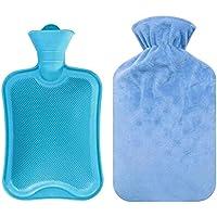 Tragbare Gummi-Heißwassertasche mit weicher Plüsch-Abdeckungs-Tasche [B] preisvergleich bei billige-tabletten.eu