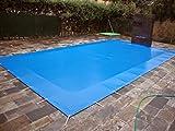 International Cover Pool Lona de Invierno para Piscinas de 4x7 Metros (con Anclajes y tensores) (4,30x7,30 m para Que sobresalga y se Pueda anclar Fuera de la Piscina) PVC