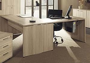 Bureau d'angle 180 cm coloris chêne sable
