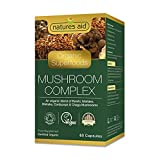 Natures Aid Mushroom Complex (Reishi, Maitake, Shiitake, Cordyceps & Chaga Mushrooms), 60 Vbouchons