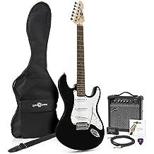 Guitarra Eléctrica LA + Pack de Ampli de 15W - Negro