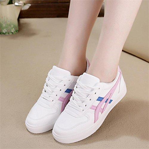 ALUK- Printemps Et Automne PU Matériel Board Chaussures Coréen Occasionnels Chaussures ( couleur : Rose , taille : 37 ) Rose