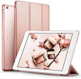 iPad Air Case (NOT for iPad Air 2), ESR iPad Air Smart Case Cover Ultra Slim Synthetic Leather and Translucent Frosted Back Magnetic Cover with Auto Wake & Sleep Function for Apple iPad Air / iPad 5 Case (Rose Gold)
