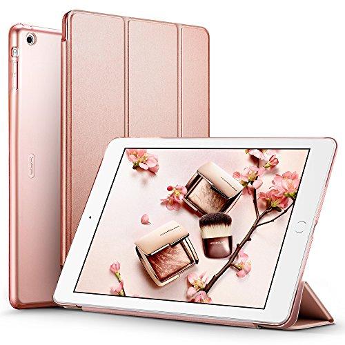 Coque iPad Air, ESR Slim Fit Smart Housse Etui de Protection en PU Cuir avec Function Veille Automatique pour Apple iPad Air (Or Rose)