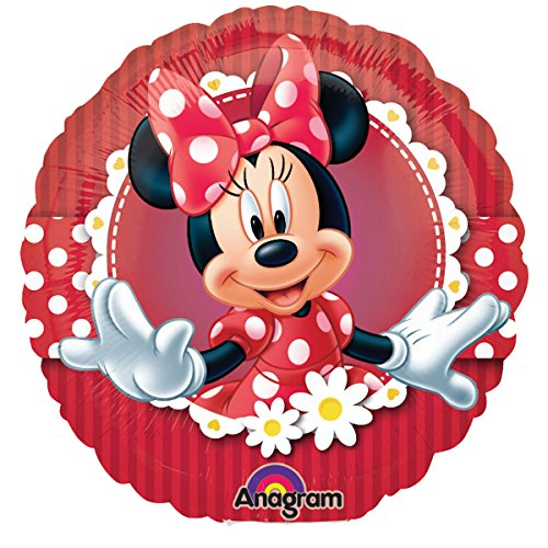 Minnie Mouse Red Polka Dot Mad About Minnie 18 Foil Balloon by Mickey & Minnie (Minnie Red Dress Mouse)
