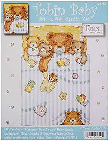 Under The Covers Baby Quilt Stamped Cross Stitch Kit-34