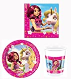 Mia and Me Partygeschirr - Partyset Becher Teller Servietten