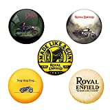 #5: AVI 6cm Pin Badges with Pack of 5 Royal Enfield Designs