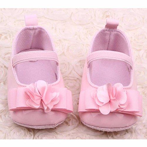Culater® Infante Ragazze fiori morbido fiocco Sole Baby Shoes pattini del bambino Rosa