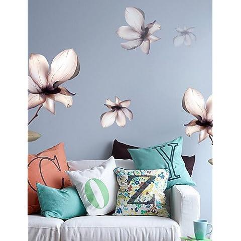 Magnolia Floral pegatinas de pared
