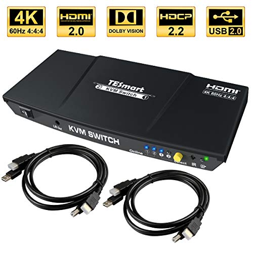 TESmart 2fach HDMI KVM Switch - 4K