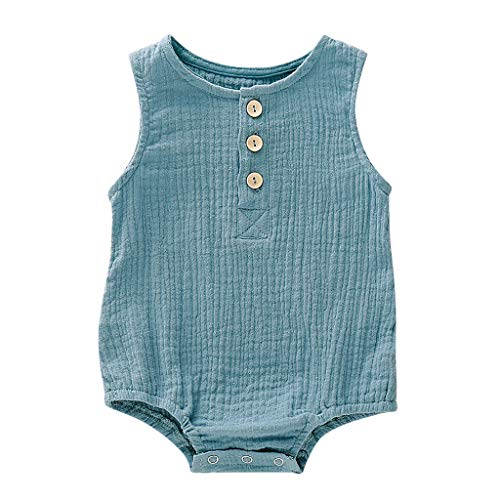 34a10d60e99e2 Y56 Newborns Baby Girl Bodysuit, Little Girls Summer Outfits Ruffle Rompers  Sleeveless Jumpsuit Clothes Set Baby Boys Girls Bodysuit Long Sleeve ...