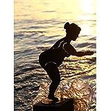 SAREMO Badenixe DORA springend auf Platte H 42cm Edelrost Metall Garten Design