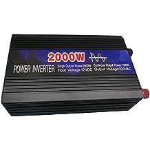 CAM2 1000W senoidal pura inversor de 2000W de potencia máxima DC 12V a 230V AC convertidor de voltaje de la fuente de alimentación del cargador del coche 12V cargador de batería de reserva de energía inversor de la energía de Solor cargador de batería Power Boat Motor Marino inversor (1000W)