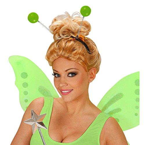 (Haarreifen mit Antennen Fühler Fee Elfe Haarschmuck Hexe Kopfschmuck Außerirdischer Karneval Kostüm Zubehör Alien Haarreif)