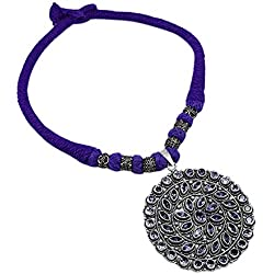 Silvestoo India Amethyst Gemstone Necklace For Women & Girls PG-129912