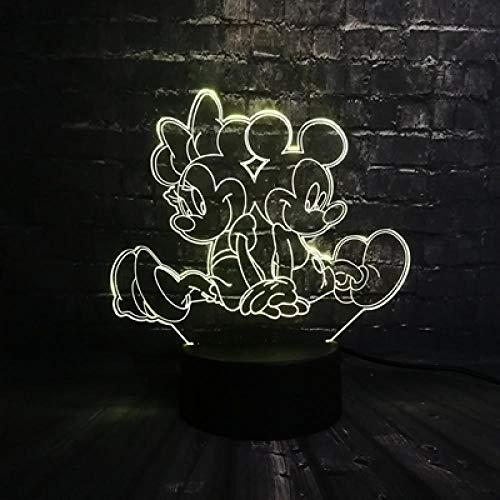 3D Led Tinker Bell Mädchen Lamparas Led Baby Usb Base 7 Farbwechsel Nachtlicht Dekoration Weihnachten Mädchen Kind Geschenk Baby Schalter -