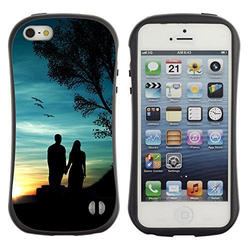 Graphic4You Red Heart Raindrops Design Harte Hülle Case Tasche Schutzhülle für Apple iPhone SE / 5 / 5S Design #7