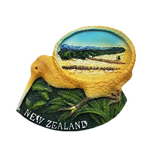 Vogel Kiwi Neuseeland 3D Kühlschrankmagnet Harz Handgemachtes Handwerk Tourist Travel City Souvenir Sammlung Brief Kühlschrank Aufkleber