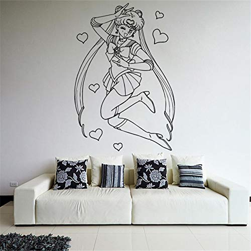 alicefen Wandtattoos Für Kinderzimmer Cartoon Wohnkultur Wand Vinyl Aufkleber Anime Manga Sailor Moon Mädchen Kindergarten Kinderzimmer 8 6 * 58 cm (Sailor Wandtattoo Moon)