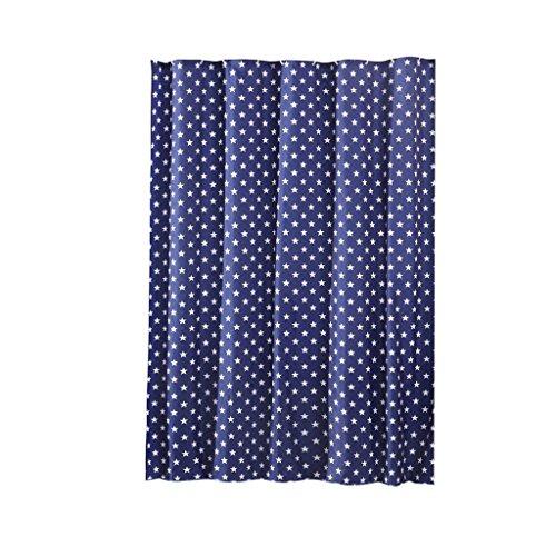 Preisvergleich Produktbild LUYIASI- Duschvorhang American Retro Wind Wasserdicht zu verhindern, Moldy Blue Star Weiß Polyester Duschvorhang 180CMx200CM (ausgestattet mit Haken) Shower Curtain