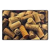 HEOEH Einzigartige Wein Korken Fußmatten Bereich Teppich Teppiche rutschhemmend Fußmatte Indoor Outdoor 78,7x 50,8cm 60 x 39 inch Mehrfarbig