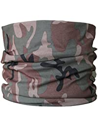 Multifunctional Headwear Green & Brown camouflage