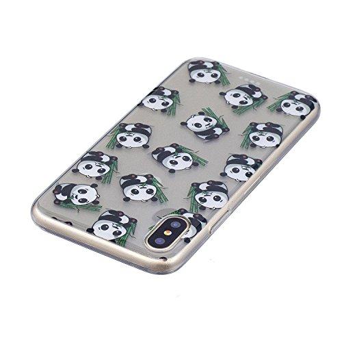 iPhone X Hülle, Voguecase Silikon Schutzhülle / Case / Cover / Hülle / TPU Gel Skin für Apple iphone X(Mädchen im bunten Kleid) + Gratis Universal Eingabestift Katzenbär 06