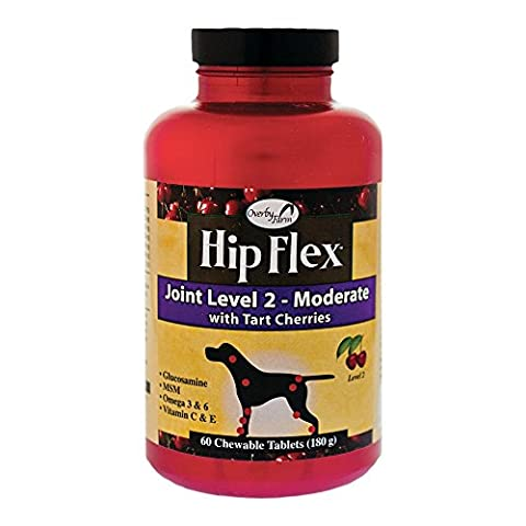 NaturVet Overby Hip Flex Joint Level 2 Early Care Chewable Tablets for Dogs 60ct