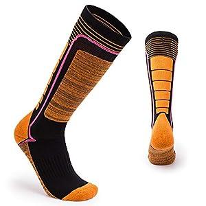 WWSZ Parent-Kind Verdickung Wandern Socken Lange Rohr Warme Ski Socken Atmungsaktive Winter Sport Outdoor Wandern Socken (31-34)