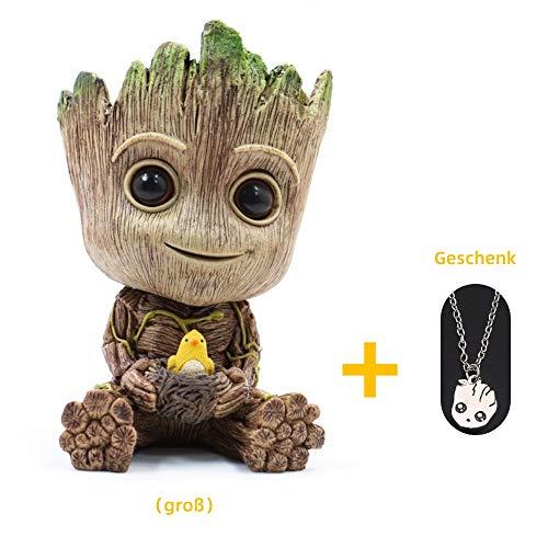 J.AKSO Baby Groot Blumentopf/Stiftehalter/Wohnkultur,Nettes Zeichentrickfigur Innovative Action-Figur,Bestes Feriengeschenk für Kinder, Paare, Freunde(Groß) (Blumentopf Net)