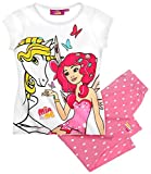Mia and Me Shorty Kollektion 2016 Pyjama 98 104 110 116 122 128 134 140 146 152 Schlafanzug Shortie Kurz Neu Top (122 - 128, Weiß-Rosa)