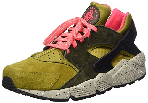 Mens Air Huarache Run PRM Gymnastics Shoes, Gold (Desert Moss/Cobblestone/Cargo Khaki), 7.5 UK Nike